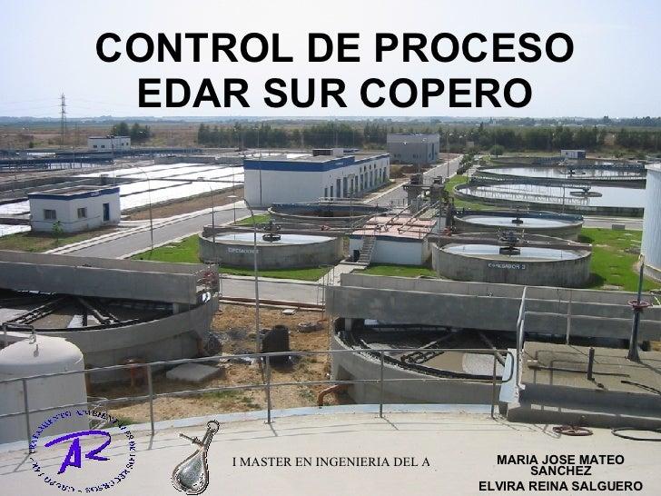CONTROL DE PROCESO EDAR SUR COPERO MARIA JOSE MATEO SANCHEZ ELVIRA REINA SALGUERO
