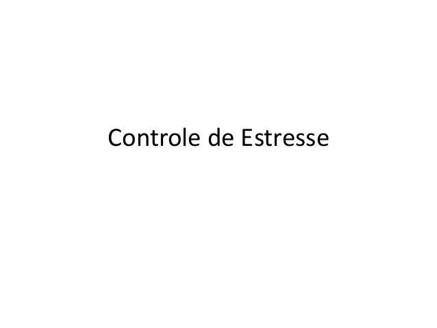 Controle de Estresse