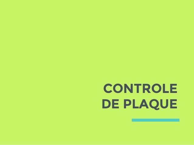 CONTROLE DE PLAQUE