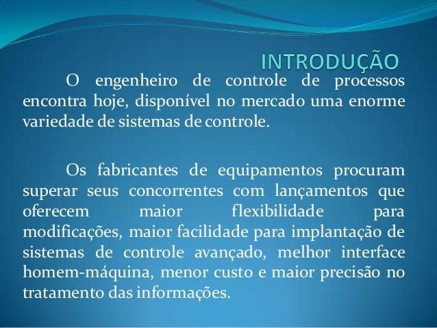 Instrumentação em Controle de processos  Slide 2