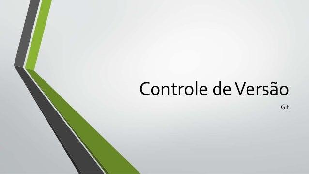 Controle deVersão Git