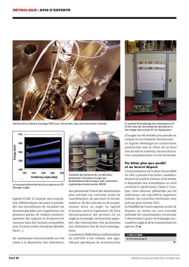 MÉTROLOGIE | AVIS D'EXPERTS  Intérieur de la chambre d'analyse MEIS avec l'échantillon, dans l'environnement ultravide. Le...