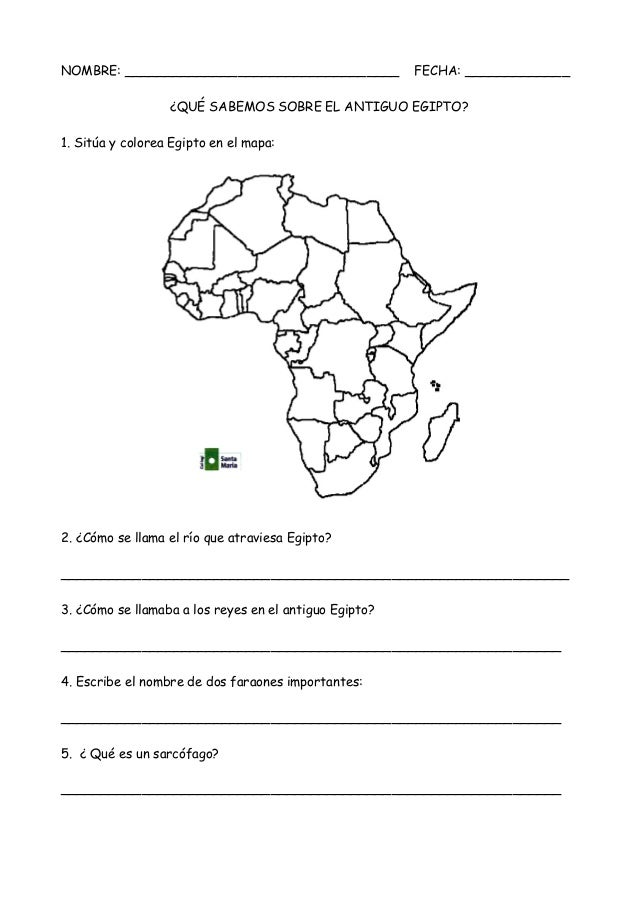 prueba escrita Egipto