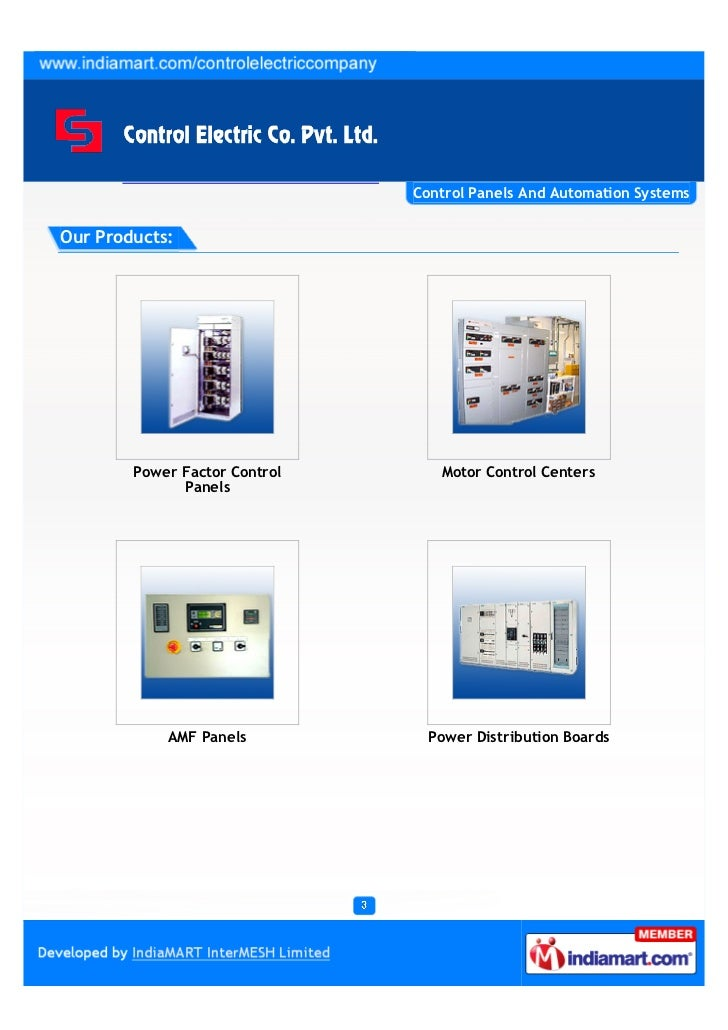 Control Electric Company Private Limited, Noida, Control Panels & Automation Systems Slide 3