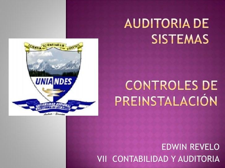 EDWIN REVELO VII  CONTABILIDAD Y AUDITORIA