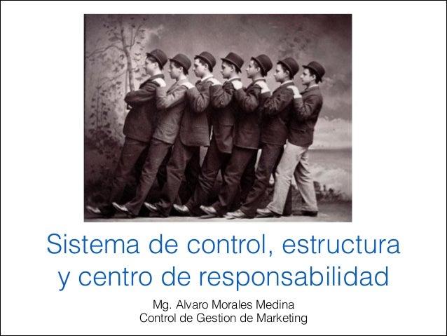 Sistema de control, estructura y centro de responsabilidad Mg. Alvaro Morales Medina Control de Gestion de Marketing