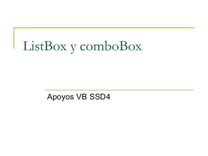 ListBox y comboBox Apoyos VB SSD4