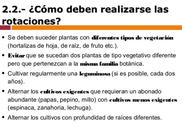 Control fitosanitario cultivos ecol gicos Rotaciones de cultivos ecologicos