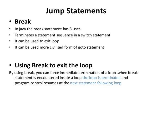 control flow statements in java