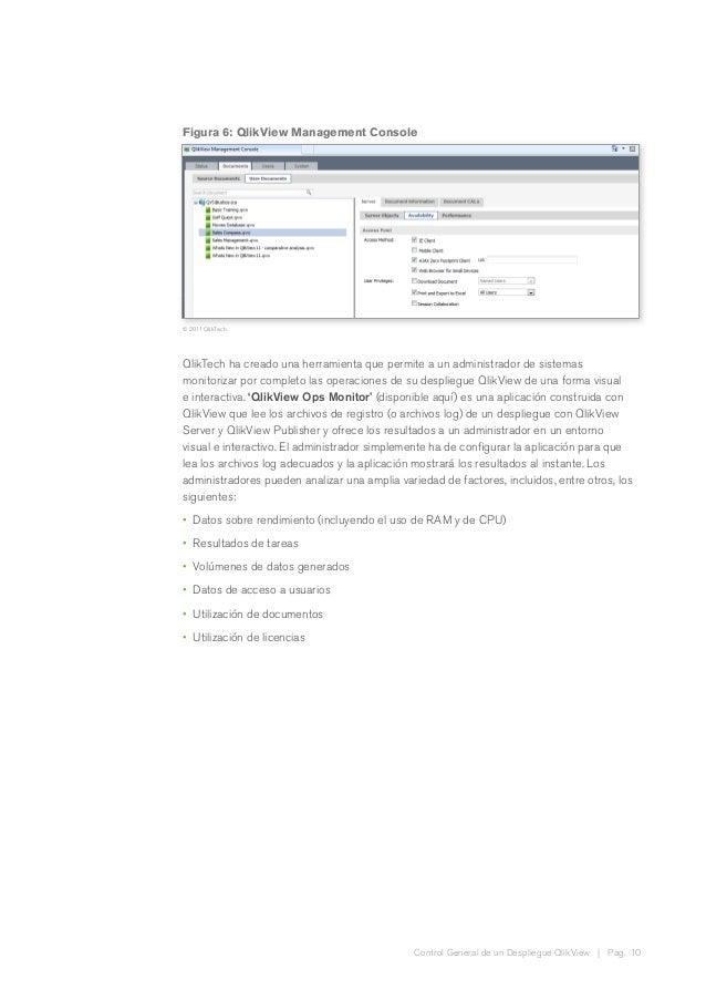 Control General de un Despliegue QlikView | Pag. 10 Figura 6: QlikView Management Console © 2011 QlikTech QlikTech ha crea...