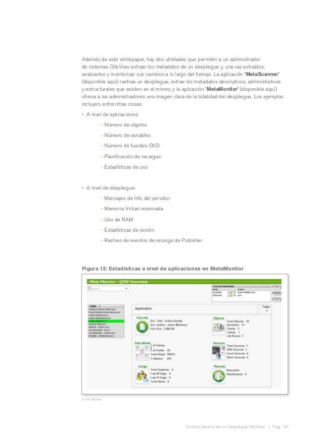 Control General de un Despliegue QlikView | Pag. 16 Además de este whitepaper, hay dos utilidades que permiten a un admini...