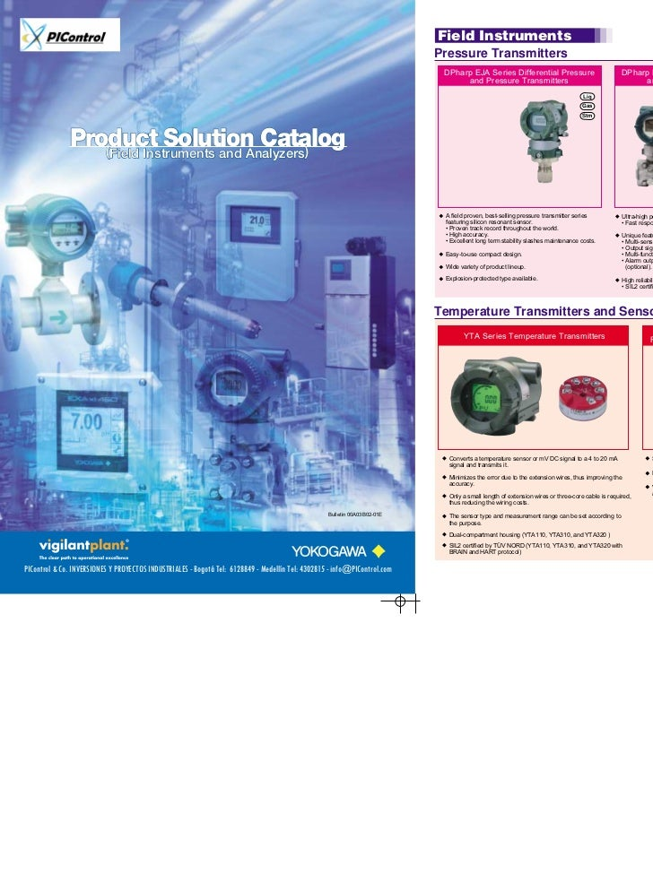 Product Solution Catalog                 (Field Instruments and Analyzers)                                                ...