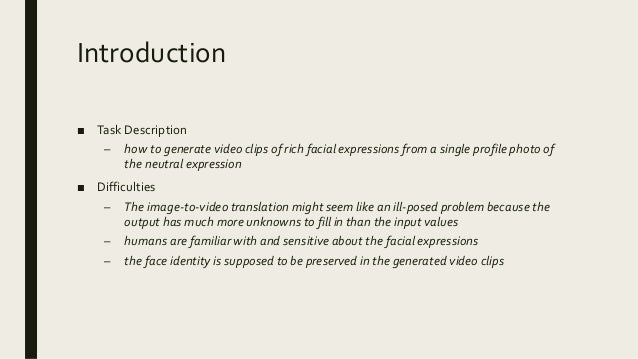 Controllable image to-video translation Slide 2