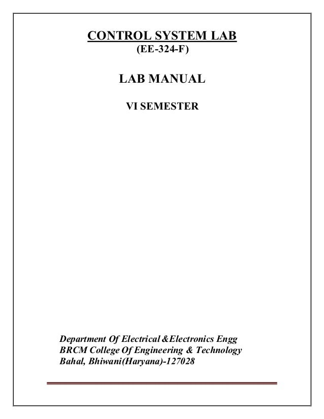 control system lab manual rh slideshare net control system lab manual for eee pdf control system lab manual for eee jntuk