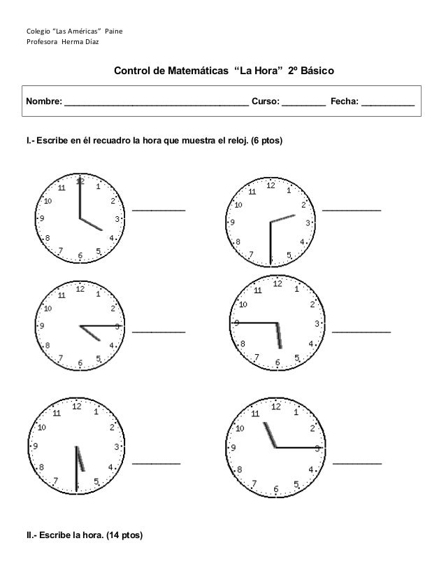 Control la hora