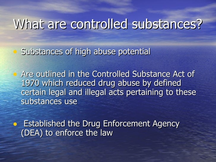 Wrongful use of controlled substance essay