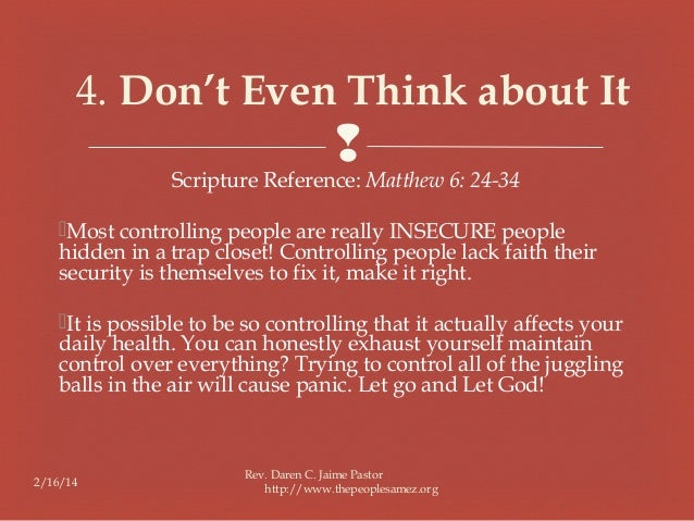 controlling bible study