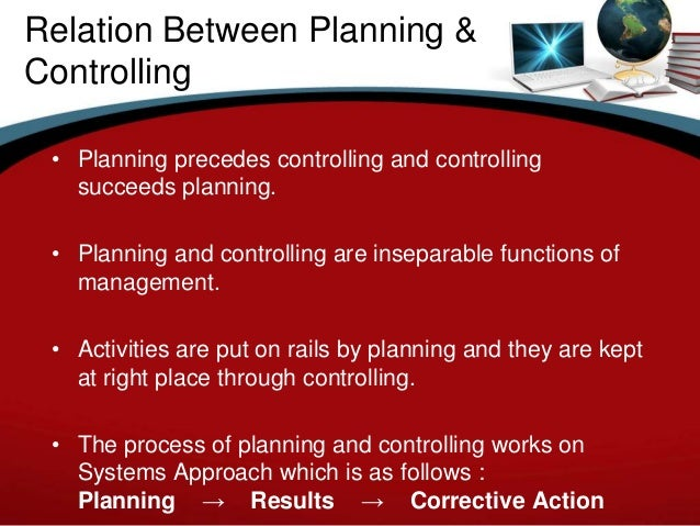 planning and controlling relationship definition