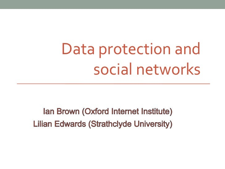 Data protection and    social networks