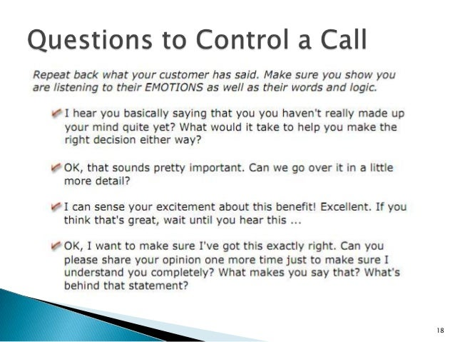 how to start a sales call over the phone