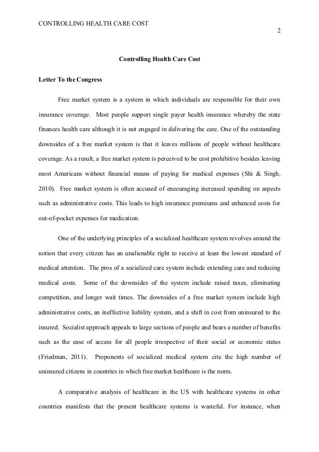 essay about health care system