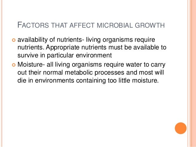 factors influencing bacterial growth Influence of growth media and temperature on bacterial  bacterial strains and growth  issues in determining factors influencing bacterial.
