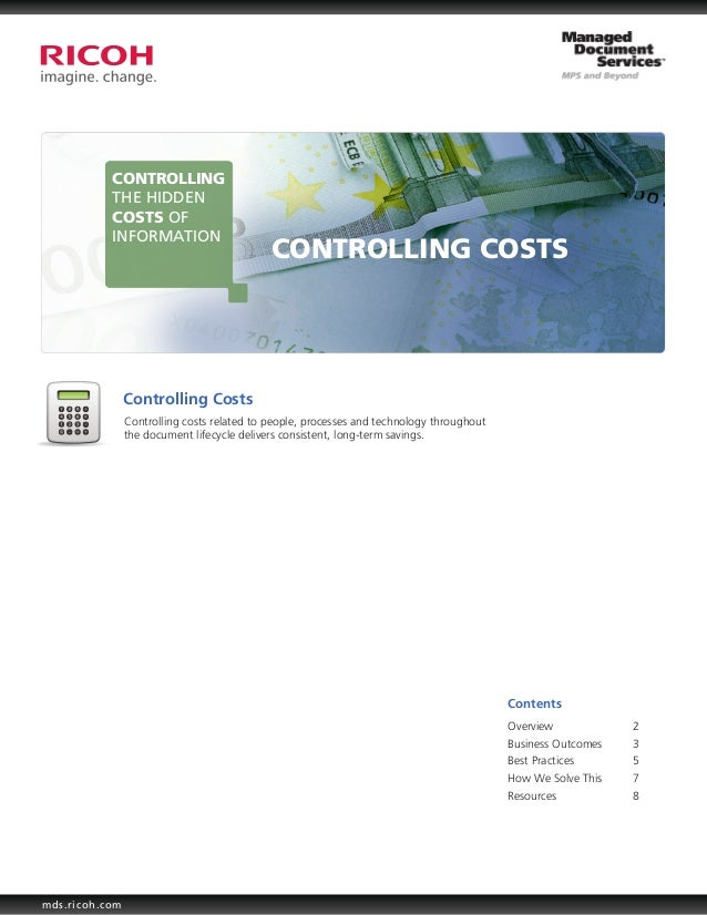 CONTROLLING           THE HIDDEN           COSTS OF           INFORMATION                                             CONT...