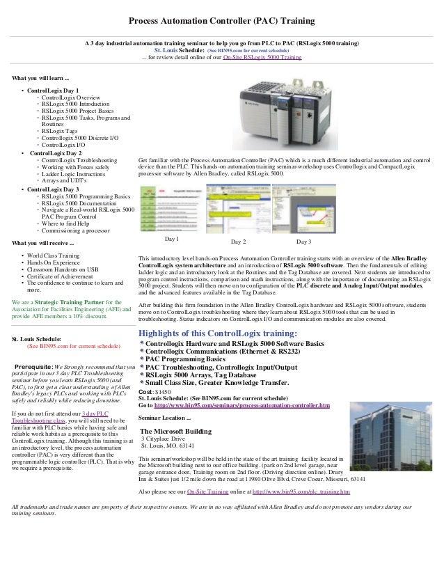 CompactLogix - RSLogix 5000 training