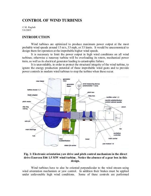 Control of wind turbines
