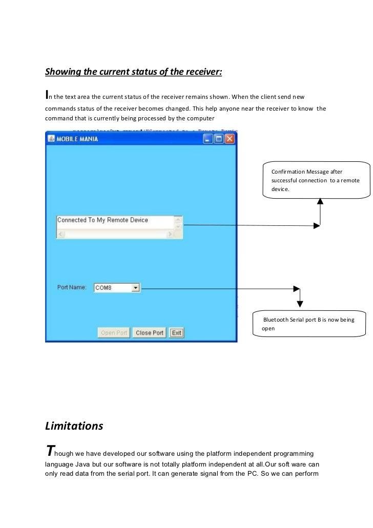 Control Pc Via Bluetooth Enable Mobile