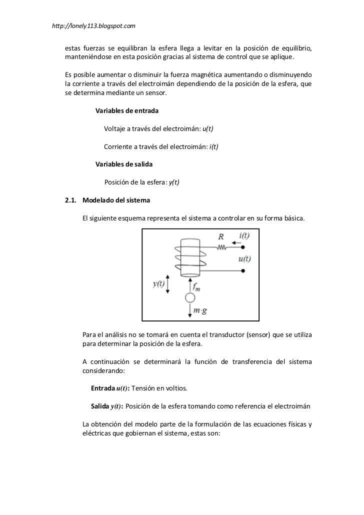 Control PID de un levitador magnético Slide 2