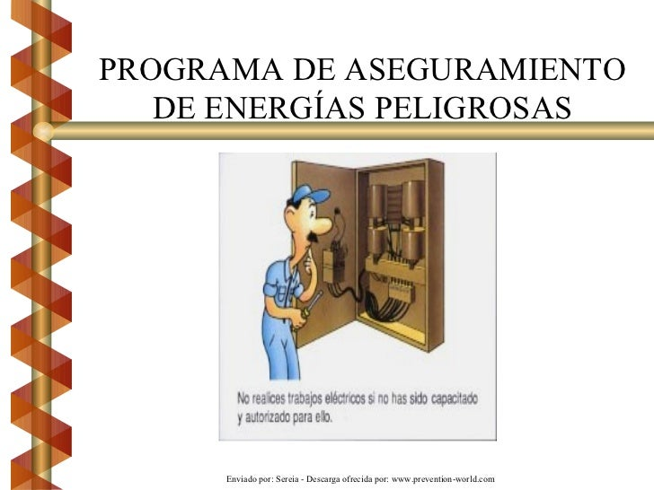 PROGRAMA DE ASEGURAMIENTO DE ENERGÍAS PELIGROSAS