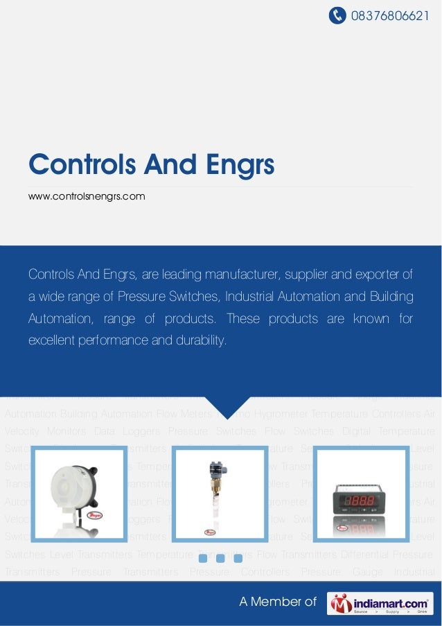 08376806621A Member ofControls And Engrswww.controlsnengrs.comPressure Switches Flow Switches Digital Temperature Switches...