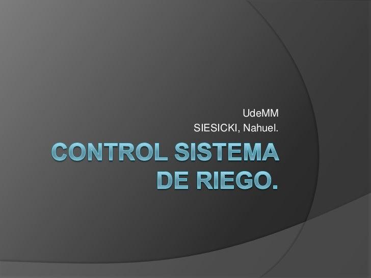 Control sistema de riego 2 for Sistema de riego vertical