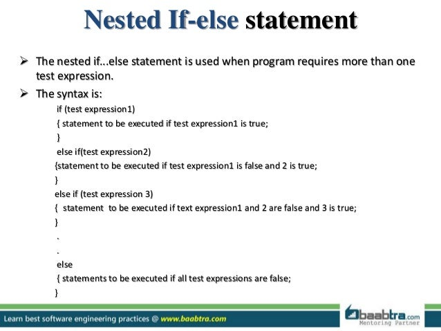 how to avoid nested if statements