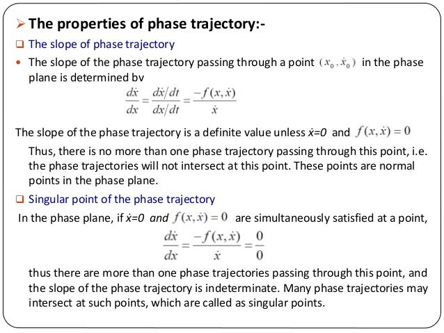 NONLINEAR CONTROL SYSTEM (Phase plane & Phase Trajectory Method)