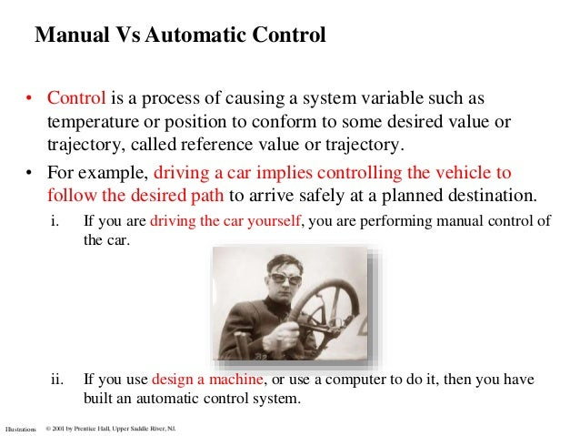 control system lectures rh slideshare net difference between manual and automatic switching system difference between manual and automated system in computer