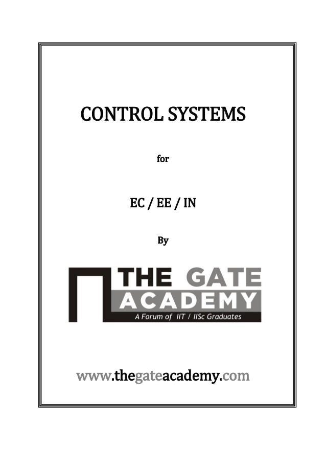 Electrical and Electronics Engineering : Control systems