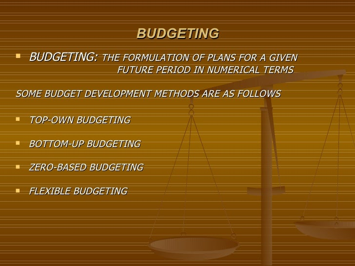 budgetry control The primary difference between standard costing and budgetary control is that standard costing is limited to cost data, but budgetary control is related to cost as.