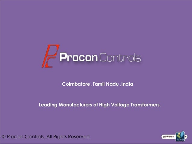 Coimbatore ,Tamil Nadu ,India               Leading Manufacturers of High Voltage Transformers.© Procon Controls, All Righ...