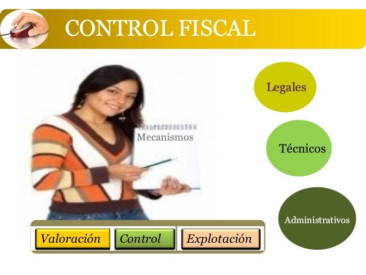 CONTROL FISCAL                                     Legales               Mecanismos                                       ...