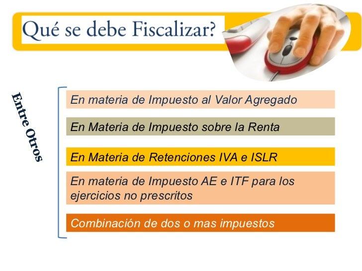 En materia de Impuesto al Valor AgregadoEn Materia de Impuesto sobre la RentaEn Materia de Retenciones IVA e ISLREn materi...
