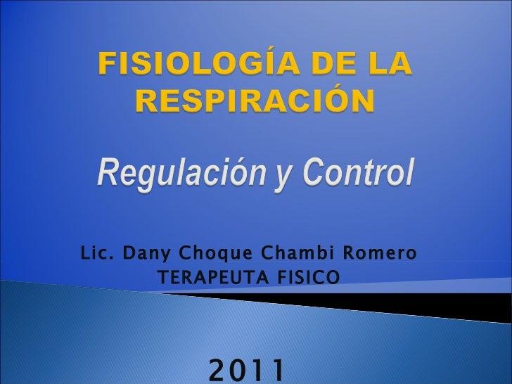 Lic. Dany Choque Chambi Romero TERAPEUTA FISICO 2011