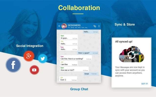 Collaboration Social Integration Group Chat Sync & Store