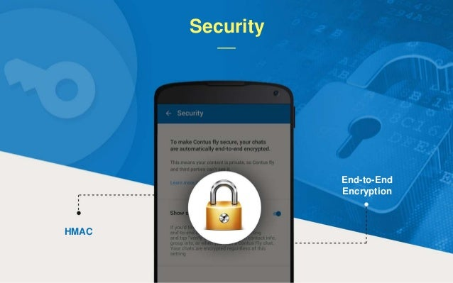 HMAC End-to-End Encryption Security