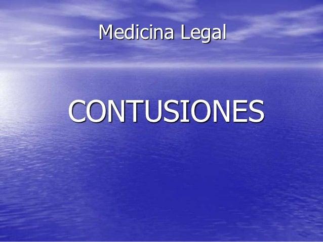 Medicina LegalCONTUSIONES