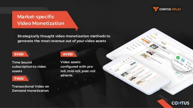 Market-specific Video Monetization SVOD AVOD TVOD Strategically thought video monetization methods to generate the most re...
