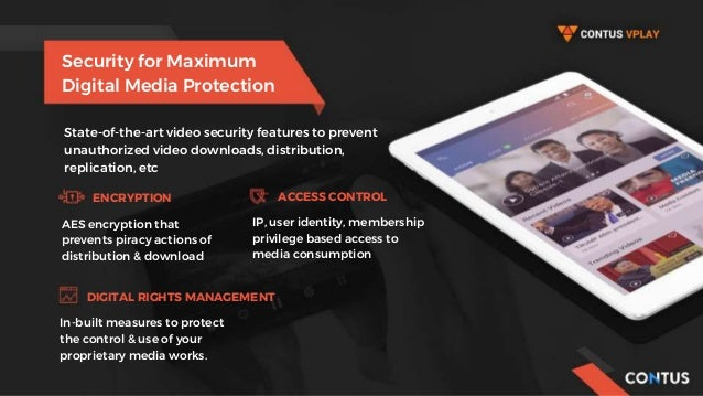 Security for Maximum Digital Media Protection State-of-the-art video security features to prevent unauthorized video downl...