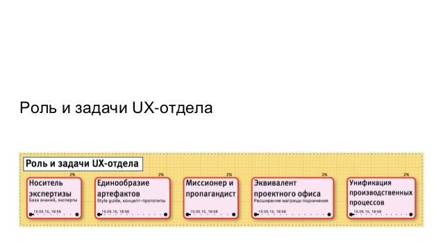 Роль и задачи UX-отдела
