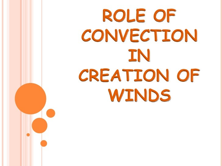 ROLE OFCONVECTION     INCREATION OF   WINDS